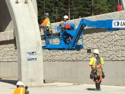 Wildlife Overpass Construction on I-90 near Snoqualmie Pass
