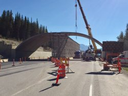 Overpass Construction in Yoho National Park (Alberta, Canada)